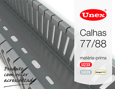 Calhas 77 / Calhas 88 sem halogéneos da Unex