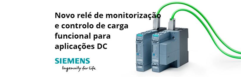 Novo relé de monitorização e controlo de carga funcional para aplicações DC da Siemens
