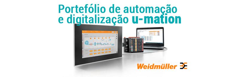 Portefólio de automação e digitalização u-mation da Weidmuller